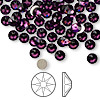 Flat back, Swarovski crystal rhinestone, Crystal Passions®, amethyst, foil back, 4.6-4.8mm Xilion rose (2058), SS20. Sold per pkg of 144 (1 gross).
