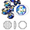 Flat back, Swarovski crystal rhinestone, Crystal Passions®, crystal AB, foil back, 10mm solaris (2611). Sold per pkg of 2.