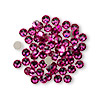 Flat back, Swarovski crystal rhinestone, Crystal Passions®, fuchsia, foil back, 3.8-4mm Xilion rose (2058), SS16. Sold per pkg of 12.