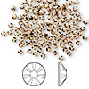 Flat back, Swarovski crystal rhinestone, Crystal Passions®, light Colorado topaz, foil back, 2.5-2.7mm Xilion rose (2058), SS9. Sold per pkg of 144 (1 gross).