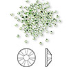 Flat back, Swarovski crystal rhinestone, Crystal Passions®, peridot, foil back, 1.7-1.9mm Xilion rose (2058), SS5. Sold per pkg of 144 (1 gross).