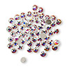 Flat back, Swarovski crystal rhinestone, crystal AB, foil back, 3-3.2mm Xilion rose (2058), SS12. Sold per pkg of 1,440 (10 gross).