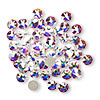 Flat back, Swarovski crystal rhinestone, crystal AB, foil back, 4.6-4.8mm Xilion rose (2058), SS20. Sold per pkg of 12.