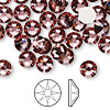 Flat back, Swarovski crystal rhinestone, crystal antique pink, foil back, 7.07-7.27mm Xilion rose (2058), SS34. Sold per pkg of 144 (1 gross).
