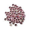Flat back, Swarovski crystal rhinestone, light rose, foil back, 3-3.2mm Xilion rose (2058), SS12. Sold per pkg of 12.