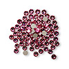 Flat back, Swarovski crystal rhinestone, rose, foil back, 3-3.2mm Xilion rose (2058), SS12. Sold per pkg of 1,440 (10 gross).
