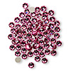 Flat back, Swarovski crystal rhinestone, rose, foil back, 3.8-4mm Xilion rose (2058), SS16. Sold per pkg of 144 (1 gross).
