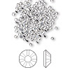 Flat back, Swarovski hotfix crystal rhinestone, Crystal Passions®, crystal clear, foil back, 1.9-2mm Xilion rose (2038), SS6. Sold per pkg of 144 (1 gross).