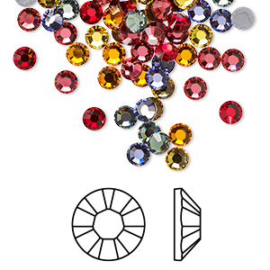 Flat back, Swarovski® crystal hotfix rhinestone, Crystal Passions®, Heat, foil back, 3.8-4mm Xilion rose (2028), SS16. Sold per pkg of 96.