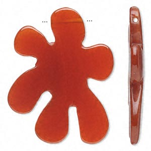 Focal, carnelian (dyed / heated), 40x30mm flat ink spot, B grade, Mohs hardness 6-1/2 to 7. Sold individually.