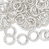 Jumpring, aluminum, silver, 10mm smooth round, 14 gauge. Sold per pkg of 100.