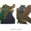 Leather scrap mix (natural / dyed), mixed colors, mixed shape. Sold per 1/2 pound pkg.