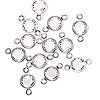 Link, Swarovski crystal and silver-plated brass, Crystal Passions®, crystal clear, 6.14-6.32mm faceted round, SS29. Sold per pkg of 12.