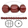 Pearl, Swarovski crystal, Bordeaux, 14mm baroque (5840). Sold per pkg of 50.