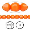 Pearl, Swarovski crystal, neon orange, 6mm baroque (5840). Sold per pkg of 250.