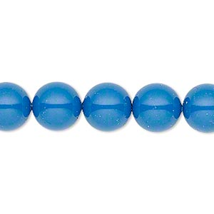 Pearl, Swarovski® crystal gemcolors, lapis, 10mm round (5810). Sold per pkg of 100.