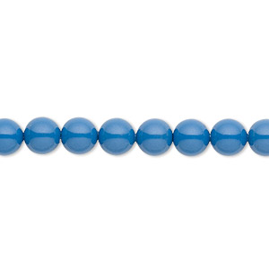 Pearl, Swarovski® crystal gemcolors, lapis, 6mm round (5810). Sold per pkg of 500.