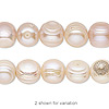 Pearl, cultured freshwater, mauve, 10-11mm semi-round, F grade, Mohs hardness 2-1/2 to 4. Sold per 16-inch strand.