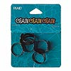 Ring finding, steel, black, 6mm wide with 13mm round flat pad, adjustable. Sold per pkg of 5.