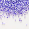 Seed bead, Delica®, glass, ceylon color-lined violet, (DB249), #11 round. Sold per 7.5-gram pkg.