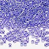 Seed bead, Delica®, glass, ceylon color-lined violet, (DBL249), #8 round. Sold per 250-gram pkg.