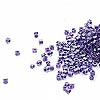 Seed bead, Delica®, glass, color-lined grape, (DB923CUT), #11 cut. Sold per 50-gram pkg.