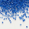 Seed bead, Delica®, glass, color-lined midnight blue, (DB285), #11 round. Sold per 7.5-gram pkg.
