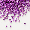 Seed bead, Delica®, glass, galvanized raspberry, (DB431), #11 round. Sold per 50-gram pkg.