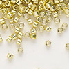 Seed bead, Delica®, glass, galvanized yellow, (DB412), #11 round. Sold per 7.5-gram pkg.