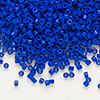Seed bead, Delica®, glass, opaque dark blue, (DB726), #11 round. Sold per pkg of 7.5 grams.