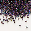 Seed bead, Delica®, glass, opaque iris purple, (DB4), #11 round. Sold per pkg of 50 grams.