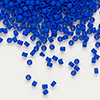 Seed bead, Delica®, glass, opaque matte cobalt blue, (DB756), #11 round. Sold per pkg of 50 grams.