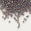 Seed bead, Delica®, glass, opaque matte metallic luster rainbow lilac, (DB1067), #11 round. Sold per pkg of 50 grams.