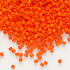 Seed bead, Delica®, glass, opaque matte orange, (DB752), #11 round. Sold per pkg of 50 grams.