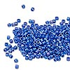 Seed bead, Delica®, glass, opaque matte rainbow cobalt blue, (DB880), #11 round. Sold per pkg of 50 grams.