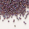 Seed bead, Delica®, glass, opaque matte rainbow purple, (DB884), #11 round. Sold per pkg of 50 grams.