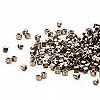Seed bead, Delica®, glass, opaque metallic bronze, (DB22CUT), #11 cut. Sold per pkg of 50 grams.