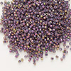 Seed bead, Delica®, glass, opaque metallic luster rainbow rhubarb, (DB1014), #11 round. Sold per pkg of 50 grams.