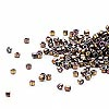 Seed bead, Delica®, glass, opaque metallic rainbow bronze, (DB23CUT), #11 cut. Sold per 50-gram pkg.