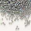 Seed bead, Delica®, glass, opaque rainbow grey, (DB168), #11 round. Sold per pkg of 7.5 grams.