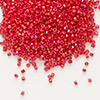 Seed bead, Delica®, glass, opaque rainbow red, (DB214), #11 round. Sold per pkg of 7.5 grams.