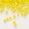 Seed bead, Delica®, glass, opaque yellow, (DB721), #11 round. Sold per pkg of 50 grams.