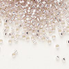 Seed bead, Delica®, glass, silver-lined light pink, (DB1433), #11 round. Sold per pkg of 7.5 grams.