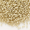 Seed bead, Delica®, glass, silver-lined opal tan, (DB1458), #11 round. Sold per pkg of 50 grams.