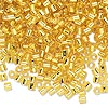 Seed bead, Delica®, glass, transparent silver-lined yellow, (DBL145), #8 round, 1.5mm hole. Sold per pkg of 50 grams.