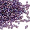 Seed bead, Dyna-Mites™, glass, frosted rainbow purple, #11 round. Sold per 40-gram pkg.