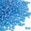 Seed bead, Dyna-Mites™, glass, frosted rainbow teal, #11 round. Sold per 40-gram pkg.