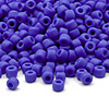 Seed bead, Dyna-Mites™, glass, matte opaque medium blue, #6 round. Sold per 1/2 kilogram pkg.