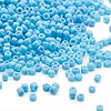 Seed bead, Dyna-Mites™, glass, opaque light blue, #11 round. Sold per 1/2 kilogram pkg.