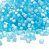 Seed bead, Dyna-Mites™, glass, silk light blue, #6 round. Sold per 1/2 kilogram pkg.